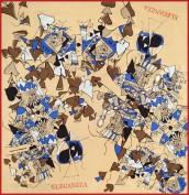 Платок женские шелк 90х90 D04-4113-01 (Eleganzza)