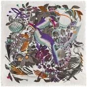 Платок женские шерсть+кашемир 90х90 Y42-7112-02 (Eleganzza)