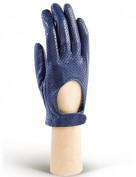 Водительские перчатки кожаные без пальцев IS854 d.blue (Eleganzza)